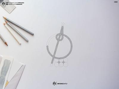 Diya Logo modern logo muslim apparel brand identity logo desing logo sketch logo muslim concept vector illustration flat monogram logo monogram logo minimal design branding