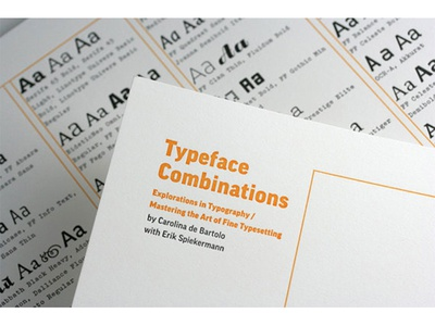 Type Combos letterpress poster