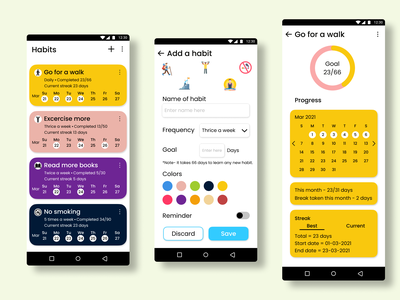Habit tracker app website illustration minimal typography ux ui design app