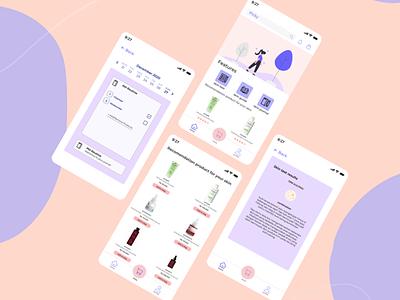 Picky - Your Skincare App ui design ui  ux ui pink skincare