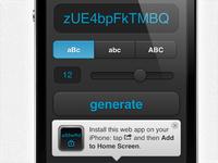 Mobile HTML5 Utility - Random Password Generator