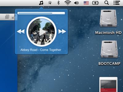 Minimalistic Music Player for Mac OS X