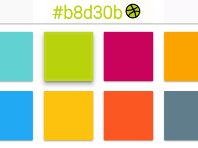 Collection of colors for web design