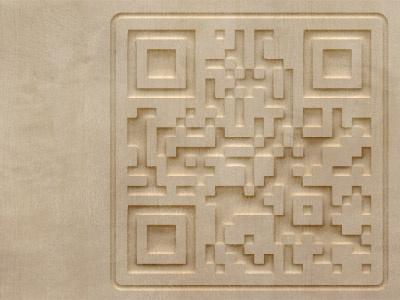 QR Code Carving effects photoshop qr shape