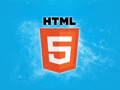 HTML5 Logo Grunge Design