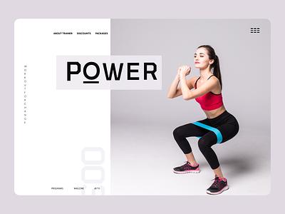 Fitness Trainer web ux ui design