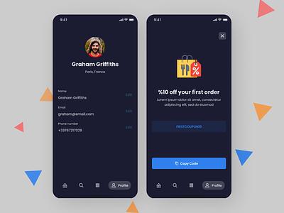 Online Food ordering App application app ux ui design
