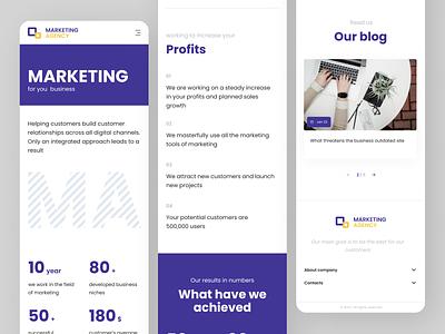 Marketing App icon minimal flat application ux ui app design