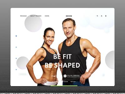 Fitness Trainer ux design uidesign uiux trendy design trendy new fitness club fitness webdesign web flat ux ui design