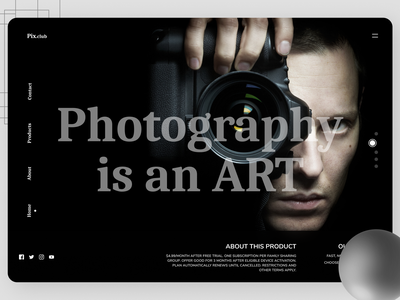 Photography Landing Page uiuxdesigner photo uxdesign ui design uiux art designs branding new web ux ui design