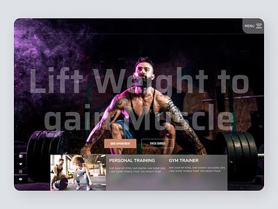 Fitness Trainer flat fitness fitness club designs branding new web ux ui design