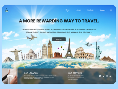 Travelling Web Design travel online new uiux designs branding design ux ui web