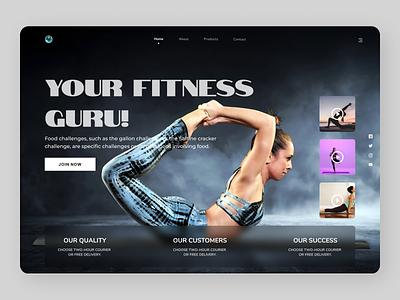 Fitness Trainer fitness fitness club uiux designs design branding new web ux ui