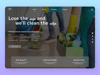 Home Cleaner uiux design uiux new year branding designs web new design ux ui