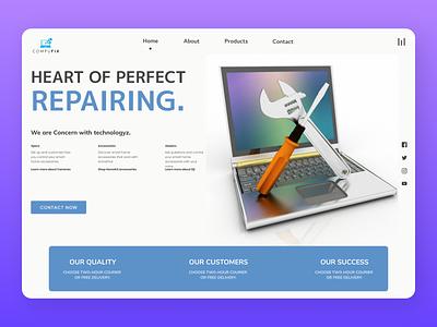 Repairing shop online uiux designs branding new web ux design ui