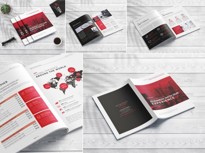 Clean Annual Report 16 Pages modern marketing letter informational infographics indesign digital design creative corporate company profile company clean business brochure branding brand book annual report agency