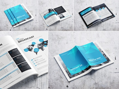 Company Profile 2020 modern marketing letter informational infographics indesign digital design creative corporate company profile company clean business brochure branding brand book annual report agency