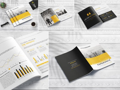 Clean Business Proposal modern marketing letter informational infographics indesign digital design creative corporate company profile company clean business brochure branding brand book annual report agency