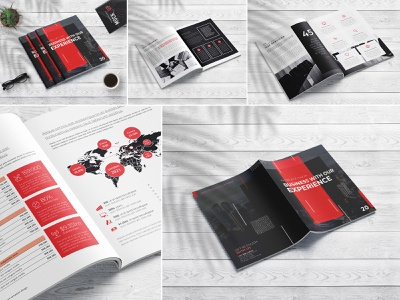 A4 Premium Brochure Template Design modern marketing letter informational infographics indesign digital design creative corporate company profile company clean business brochure branding brand book annual report agency