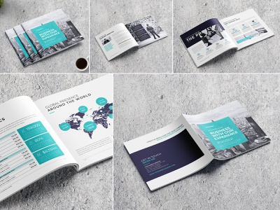 Square Minimal Company Profile modern marketing letter informational infographics indesign digital design creative corporate company profile company clean business brochure branding brand book annual report agency