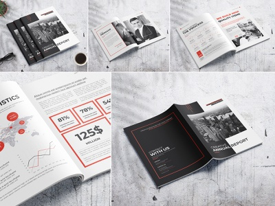 Creative Annual Report V2 modern marketing letter informational infographics indesign digital design creative corporate company profile company clean business brochure branding brand book annual report agency