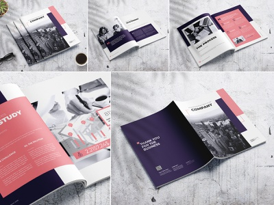 Advertising Company Brochure modern marketing letter informational infographics indesign digital design creative corporate company profile company clean business brochure branding brand book annual report agency