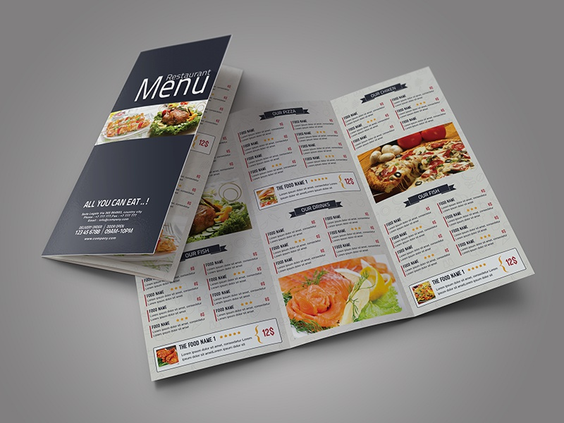 tri fold food menu by amal kabichi dribbble dribbble