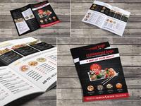 Sushi Restaurant Bi-Fold Menu