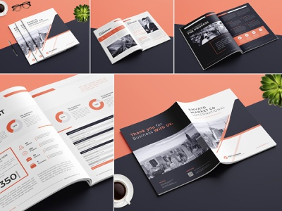 Professional Business Brochure minimalist magazine light letter informational infographics indesign emydesign elegant design creative corporate company clean business brochure design branding bold studio annual report a4