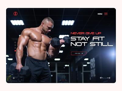 Gym Landing Page flat website web ux ui design