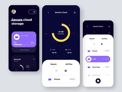 Cloud storage App app ux ui design