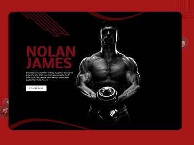 Gym Trainer Web Design branding website web ux ui design