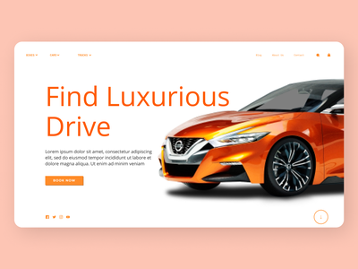 Online Car booking typography online newdesign new clean website web ux ui design