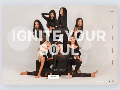 Dance Trainer minimal online newdesign new clean website web ux ui design