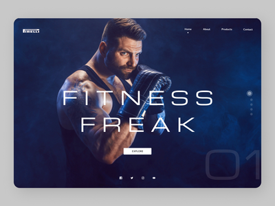 Fitness Freak newdesign branding online new clean website web ux ui design