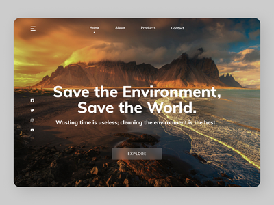 Save Environment newdesign branding online new clean website web ux ui design
