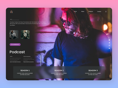 Podcast Landing Page newdesign branding online new clean web website design ux ui