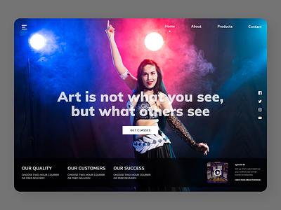 Dance Trainer newdesign branding clean online new website design web ux ui