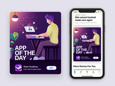 App of the day iphone12 promotion design visual aso appstore ios apple ux app