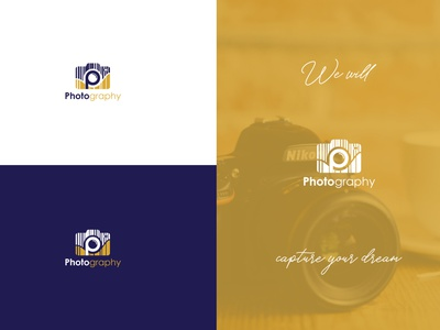Photography icon photography camera letter business corporate logo graphic elegant idea innovation clean design creative