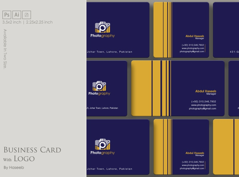 Business Card with Logo eps businesscard letter business corporate logo idea graphic design clean creative