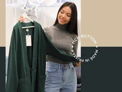 Tich Button - Visual Identity idea elegant clean creative pakistan natural minimal luxury apparel logo branding brand apparel