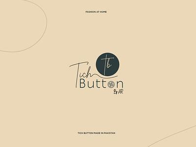Tich Button Logo pakistan clothing fashion apparel branding logo graphic elegant idea innovation design clean creative