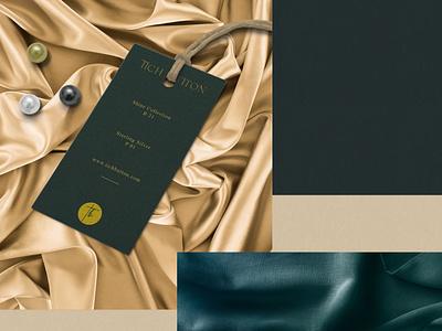 Tich Button Tag pakistan mockup premium elegant minimal logo identity design brand fashion clothing apparel