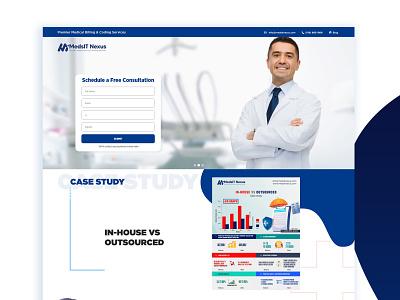 Landing Page Design - UI/UX- Medical Webpage doctor landing page webpage