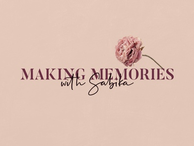 Making Memories With Sabika-Event Planner Branding planner florist floral innovative minimal decoration event decore event creative idea elegant design graphic design branding logo