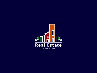 Real Estate Logo society campaign consultants insurance property house home comunity concept graphic logo letter innovation business design elegant idea clean creative building