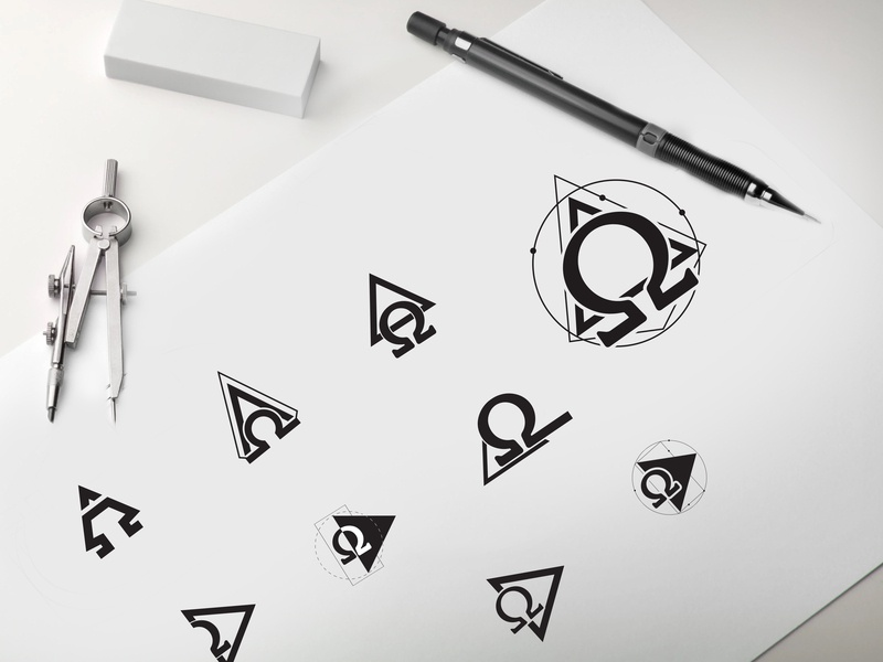 Logo concept Digihive client PSA company project client digihyve icon sketck concept omega elegant graphic letter editable business logo corporate idea innovation design clean creative