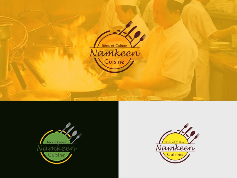 Namkeen Cuisine logo idea innovation elegant design clean corporate creative