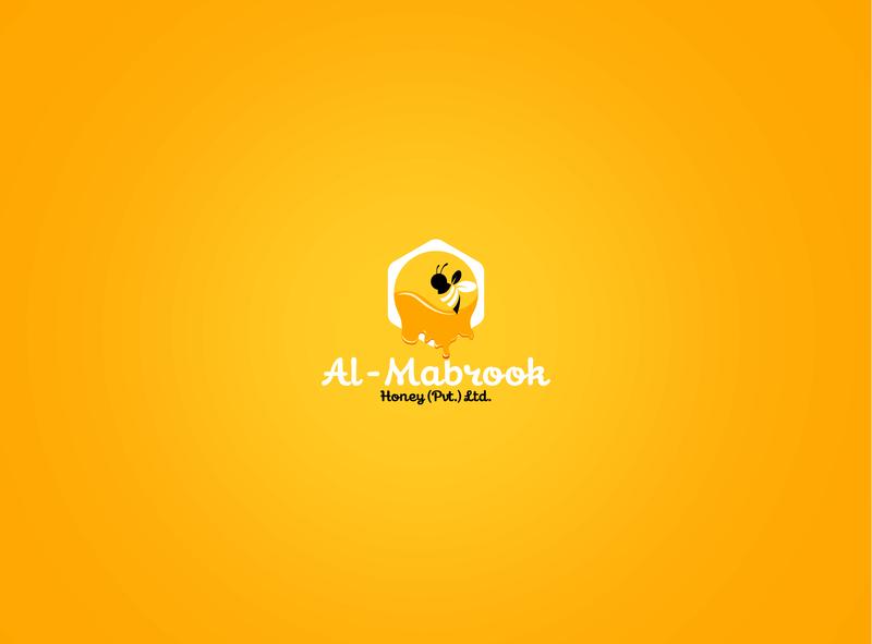 Al Mabrook typography logo graphic business idea illustration innovation corporate design clean creative bee logo branding organic identity farm hexagon honeybee hive bee